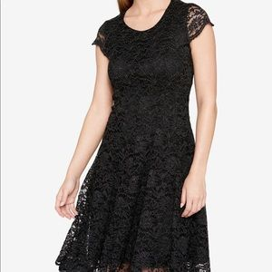 Tommy Hilfiger shine lace fit and flare dress